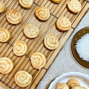 Coconut pinwheels - karachi biscuit